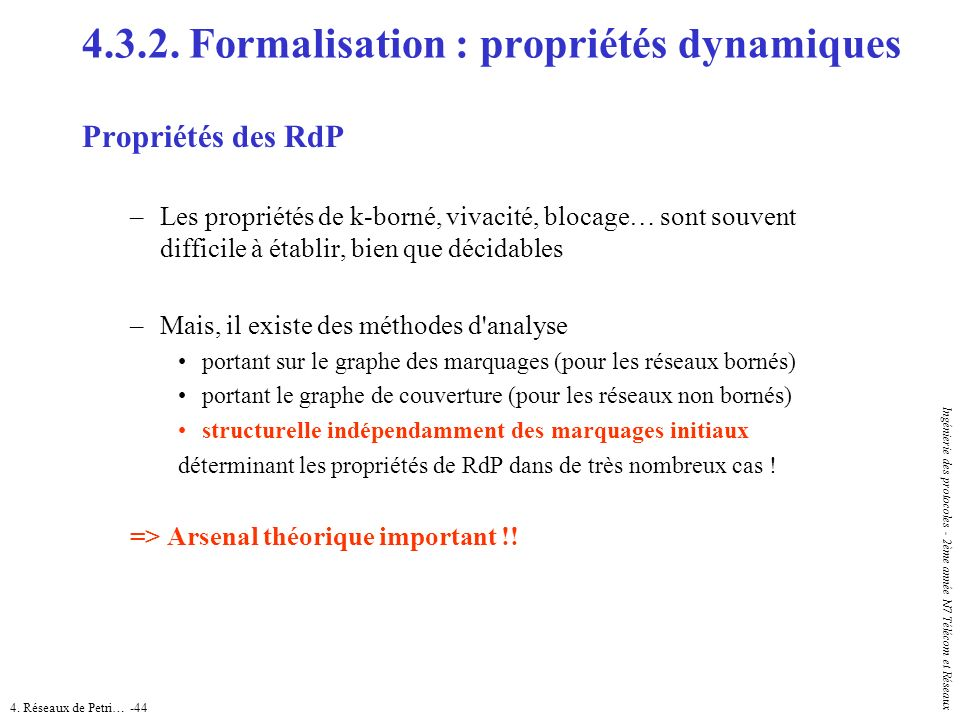 4.3.2. Formalisation : propriétés dynamiques