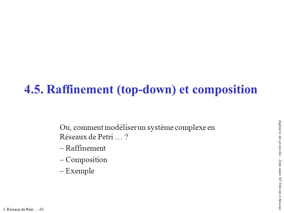 4.5. Raffinement (top-down) et composition