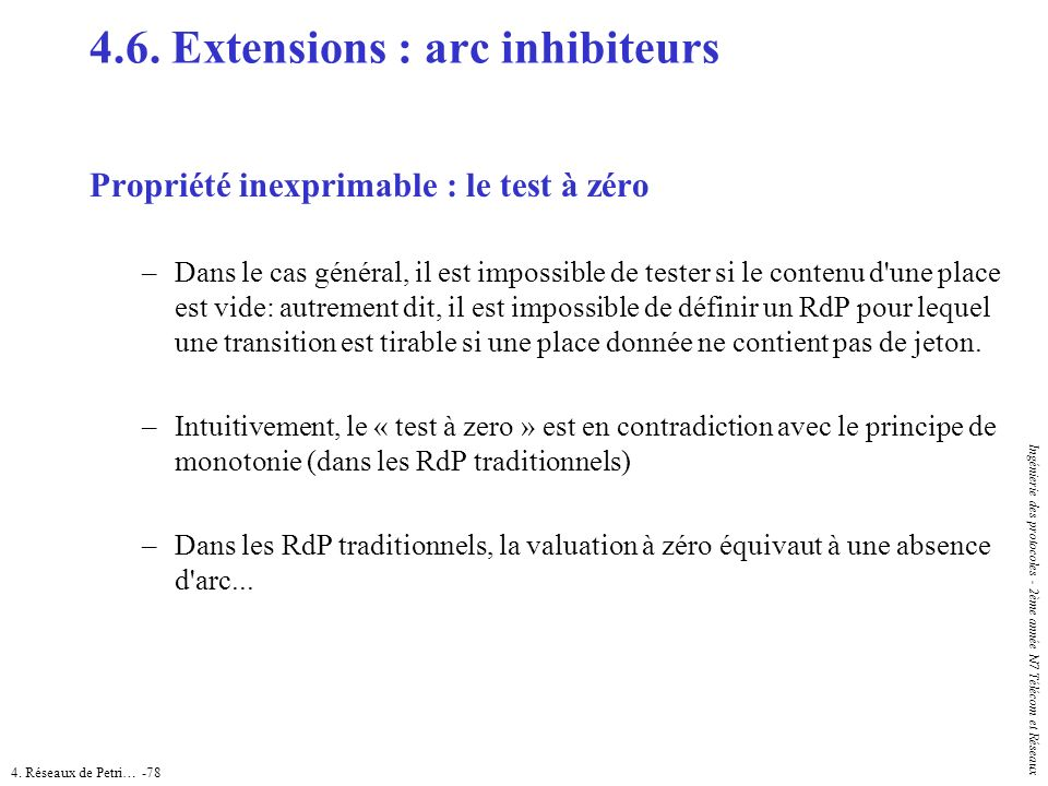 4.6. Extensions : arc inhibiteurs