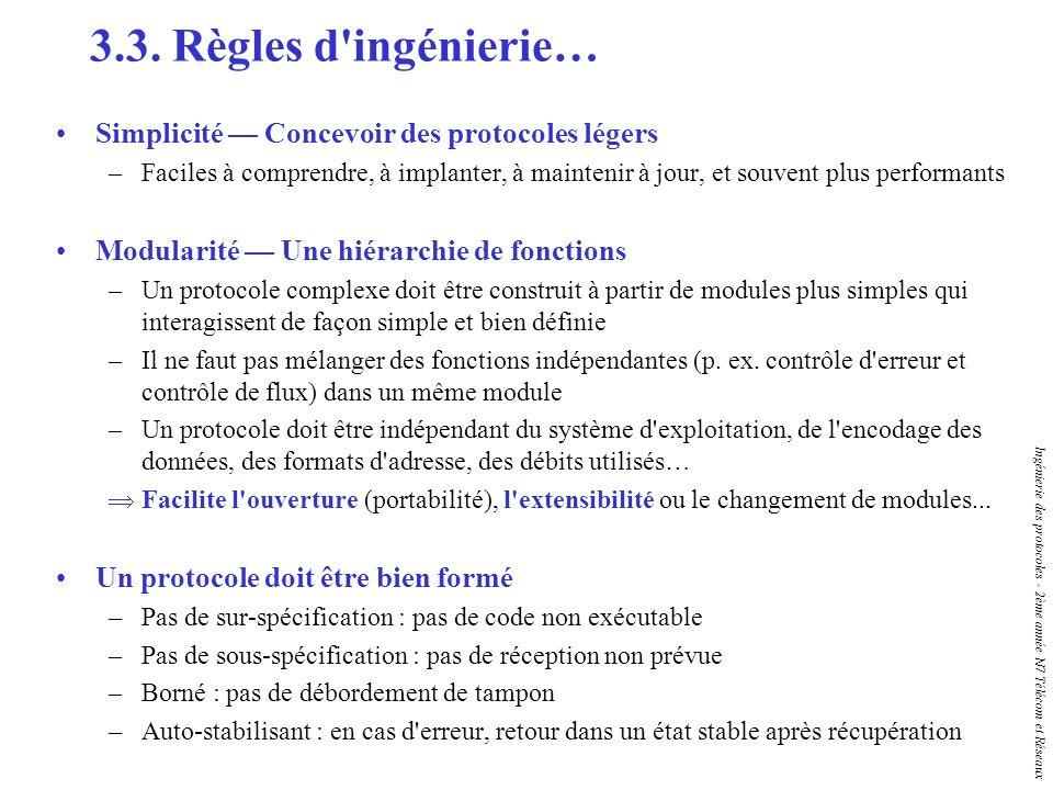 3.3. Règles d ingénierie… Simplicité — Concevoir des protocoles légers