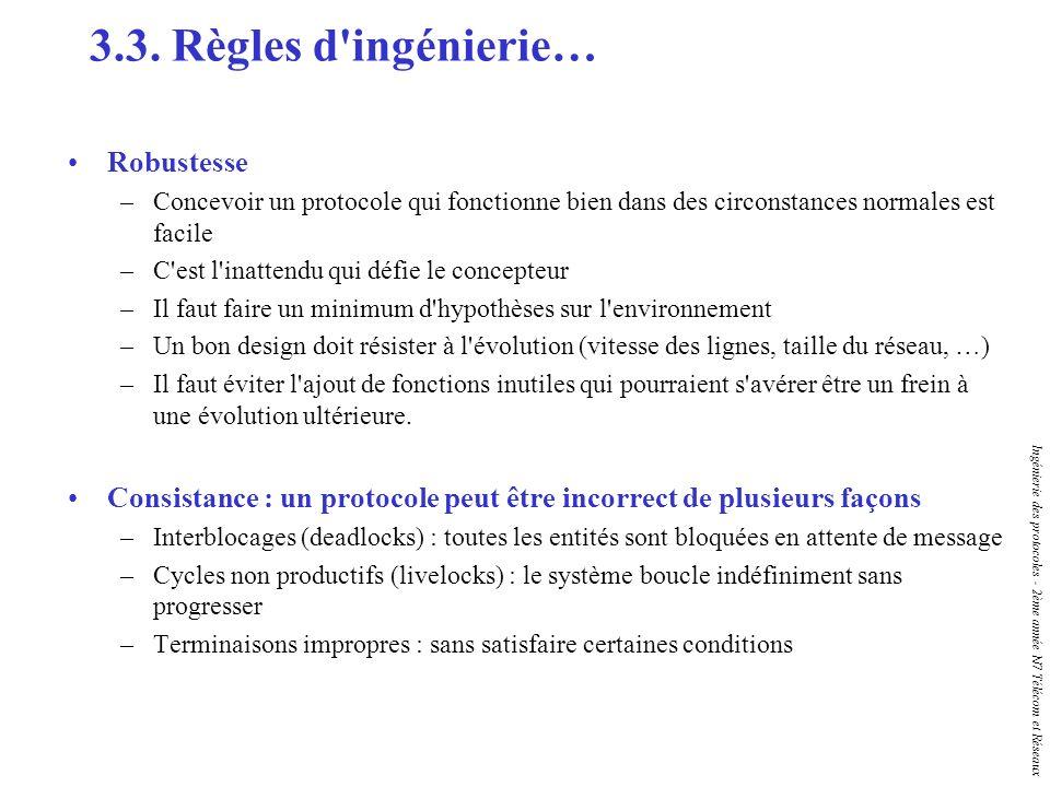 3.3. Règles d ingénierie… Robustesse