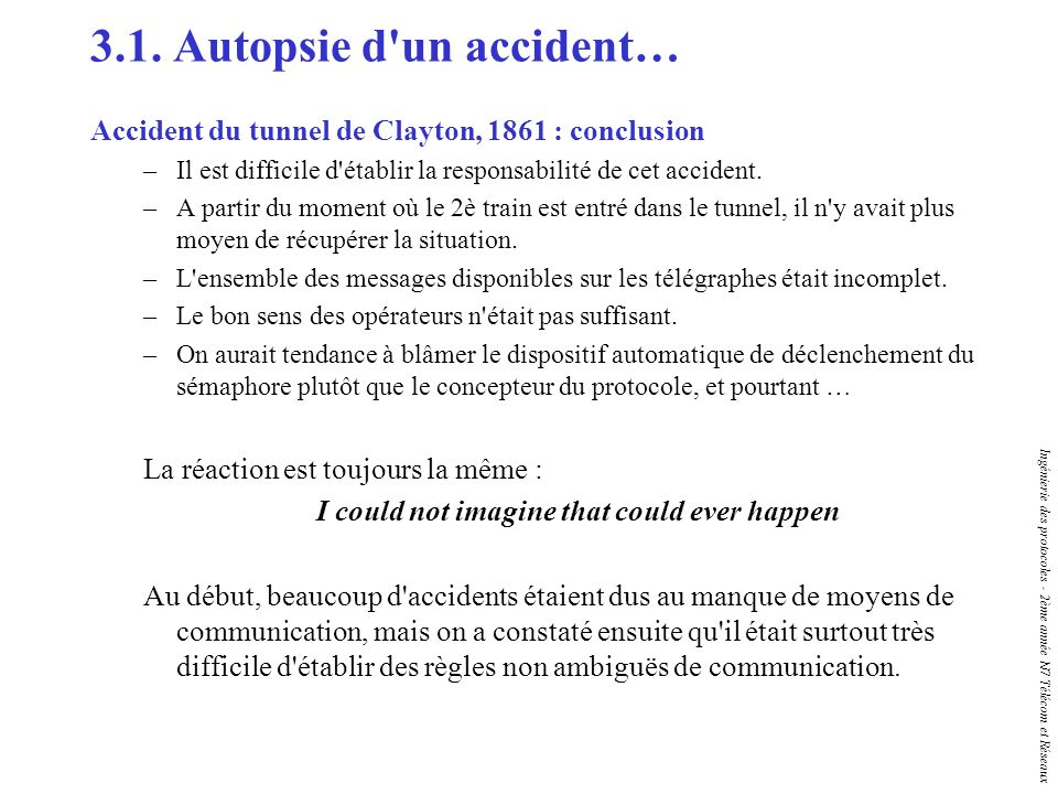3.1. Autopsie d un accident…