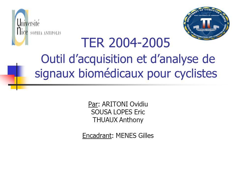 Encadrant: MENES Gilles