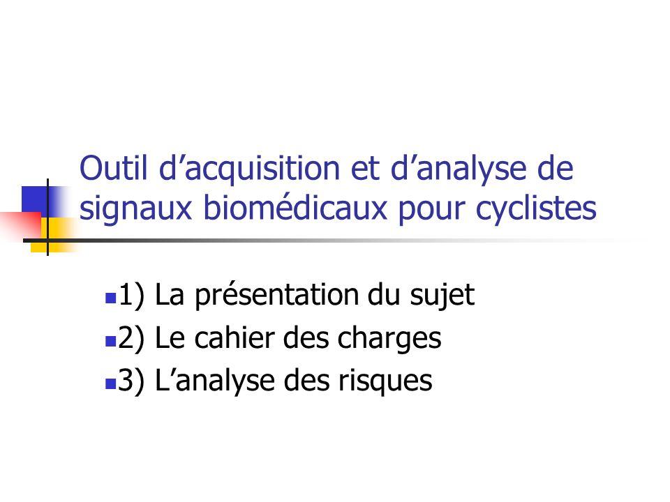 Outil d'acquisition et d'analyse de signaux biomédicaux pour cyclistes