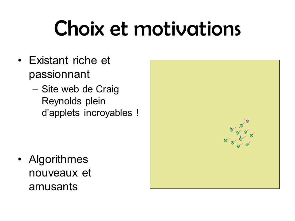 Choix et motivations Existant riche et passionnant