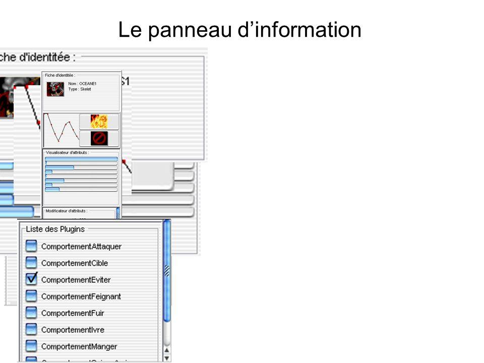 Le panneau d'information