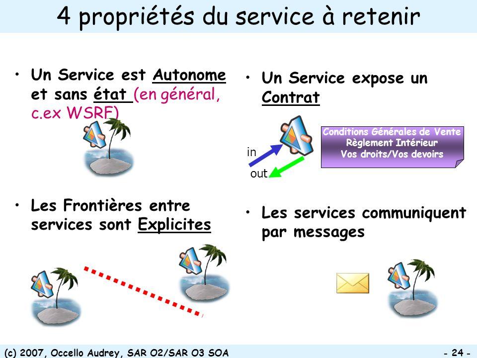4 propriétés du service à retenir