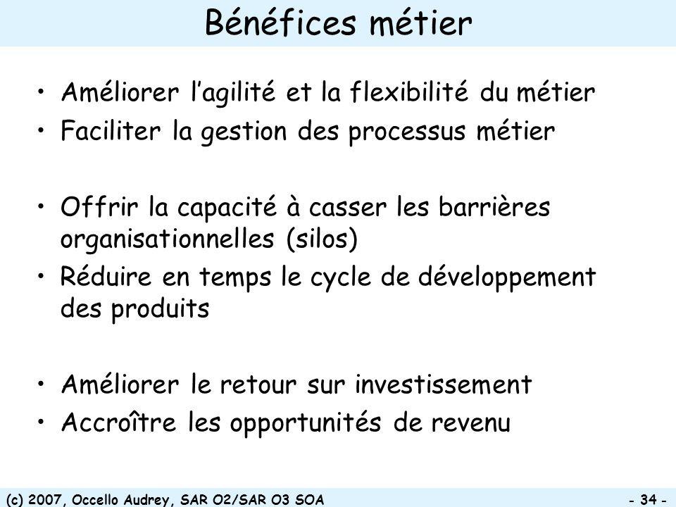Bénéfices métier Améliorer l'agilité et la flexibilité du métier