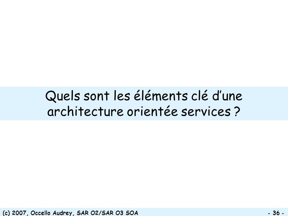 Quels sont les éléments clé d'une architecture orientée services