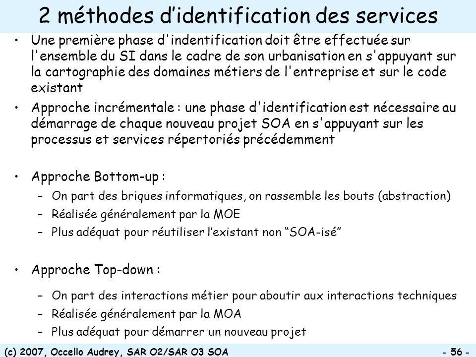 2 méthodes d'identification des services