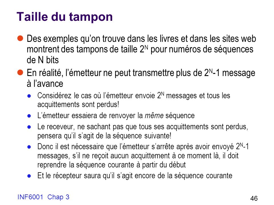 Taille du tampon