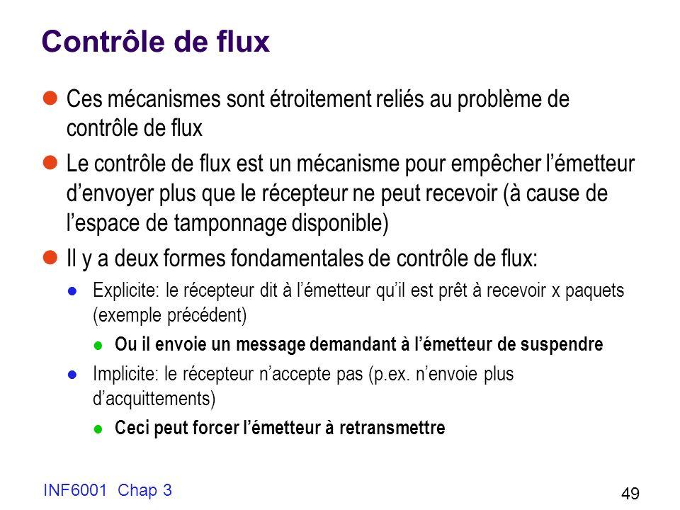 Contrôle de flux Ces mécanismes sont étroitement reliés au problème de contrôle de flux.