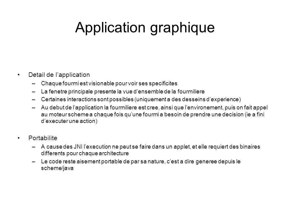Application graphique