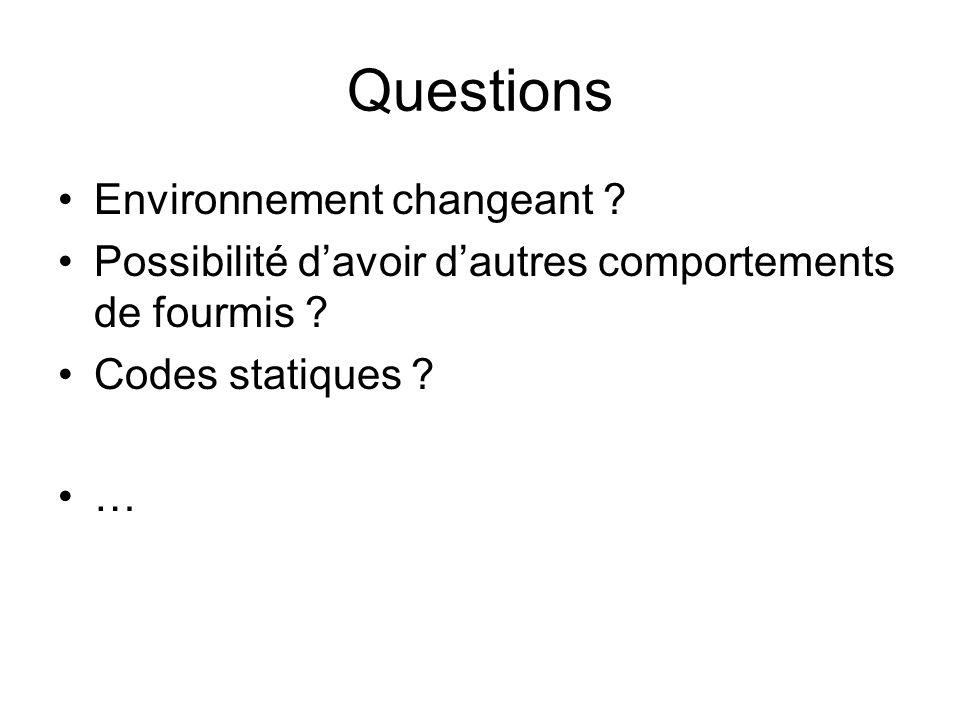 Questions Environnement changeant