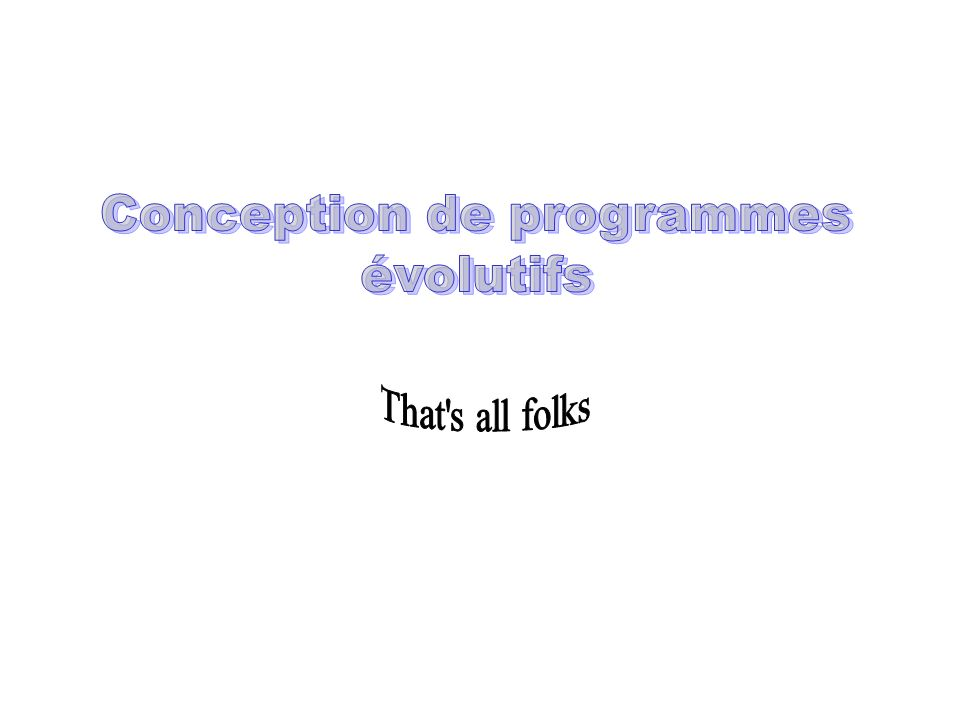 Conception de programmes