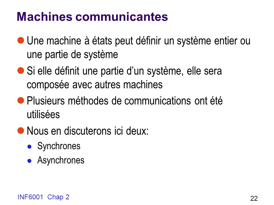 Machines communicantes