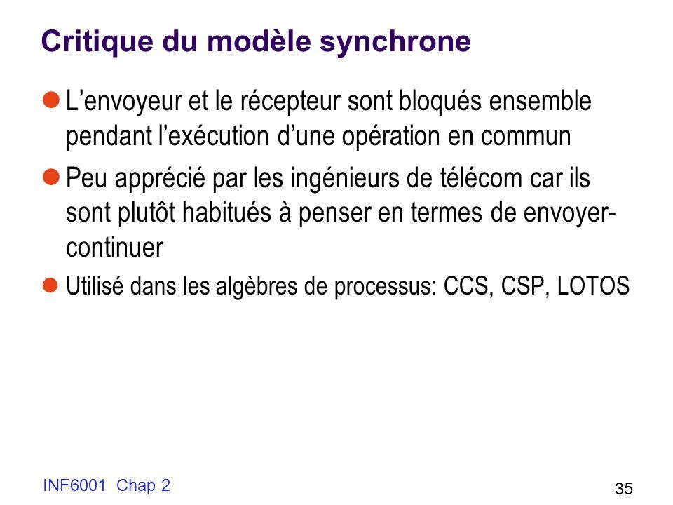 Critique du modèle synchrone