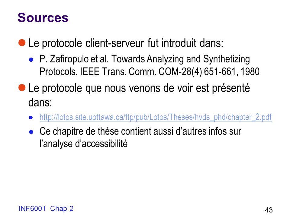 Sources Le protocole client-serveur fut introduit dans: