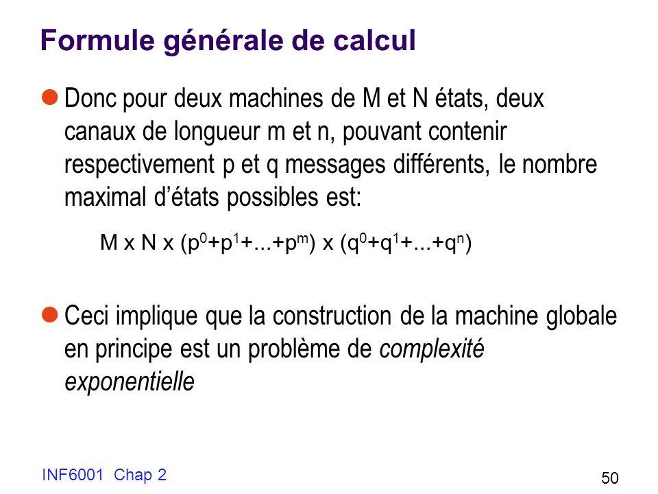Formule générale de calcul