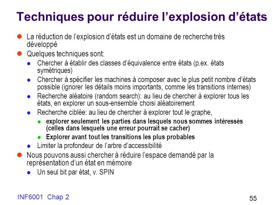 Techniques pour réduire l'explosion d'états