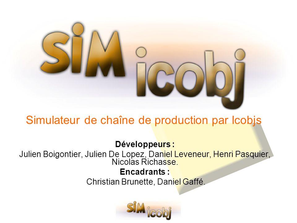 Simulateur de chaîne de production par Icobjs