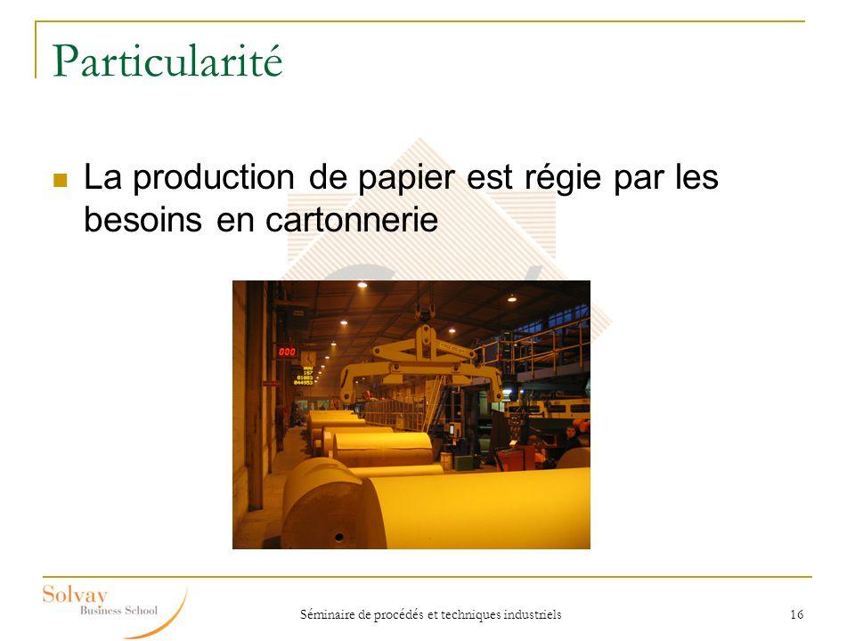 Séminaire de procédés et techniques industriels