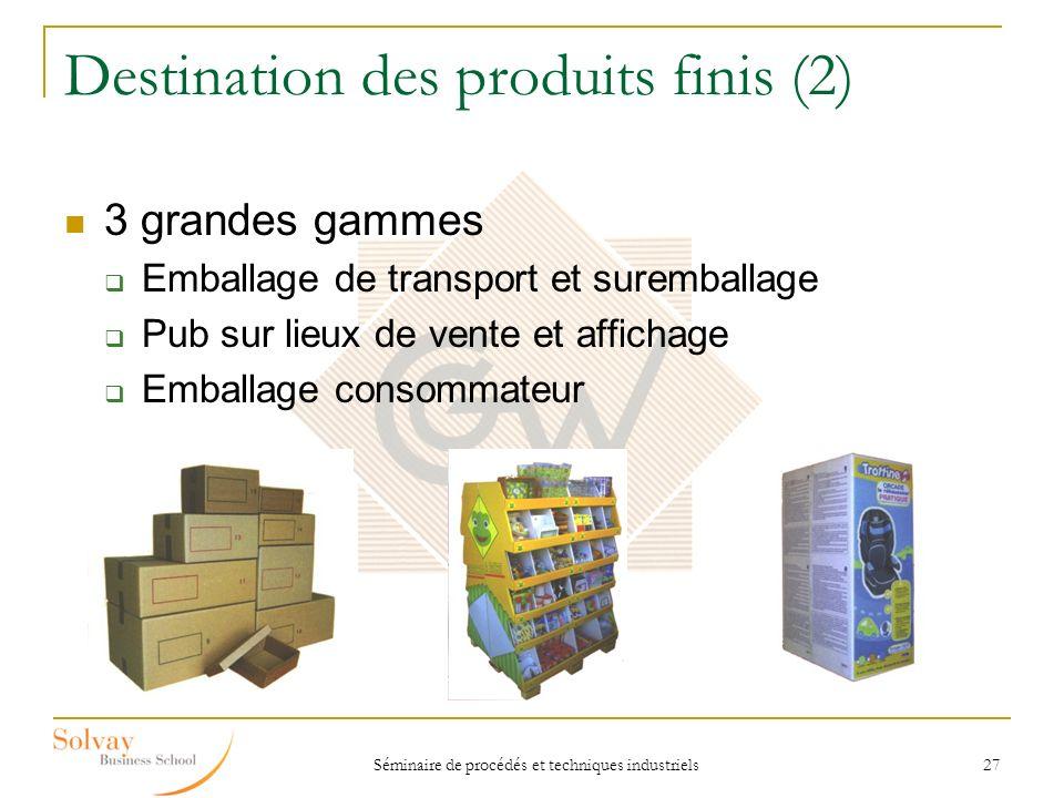 Destination des produits finis (2)