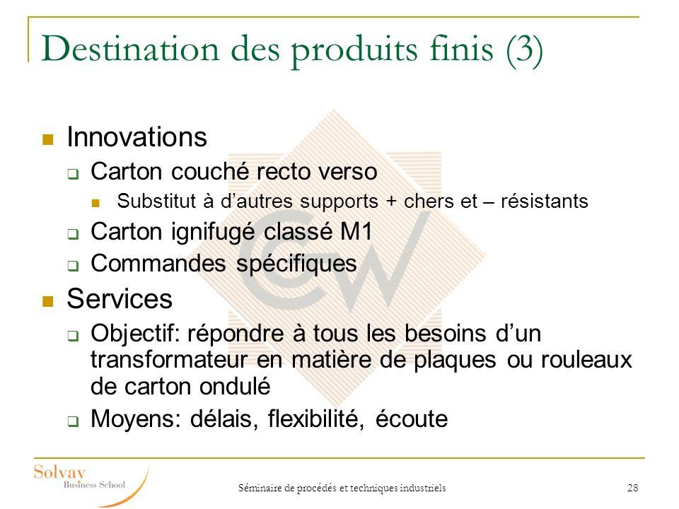 Destination des produits finis (3)
