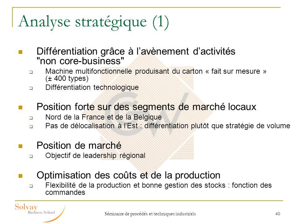 Analyse stratégique (1)