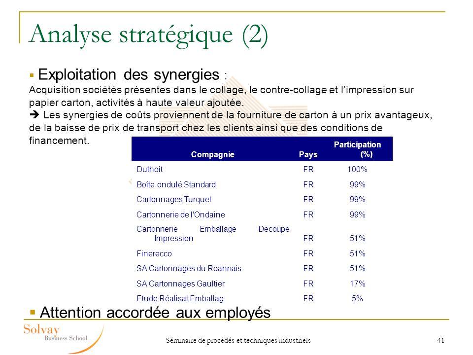 Analyse stratégique (2)