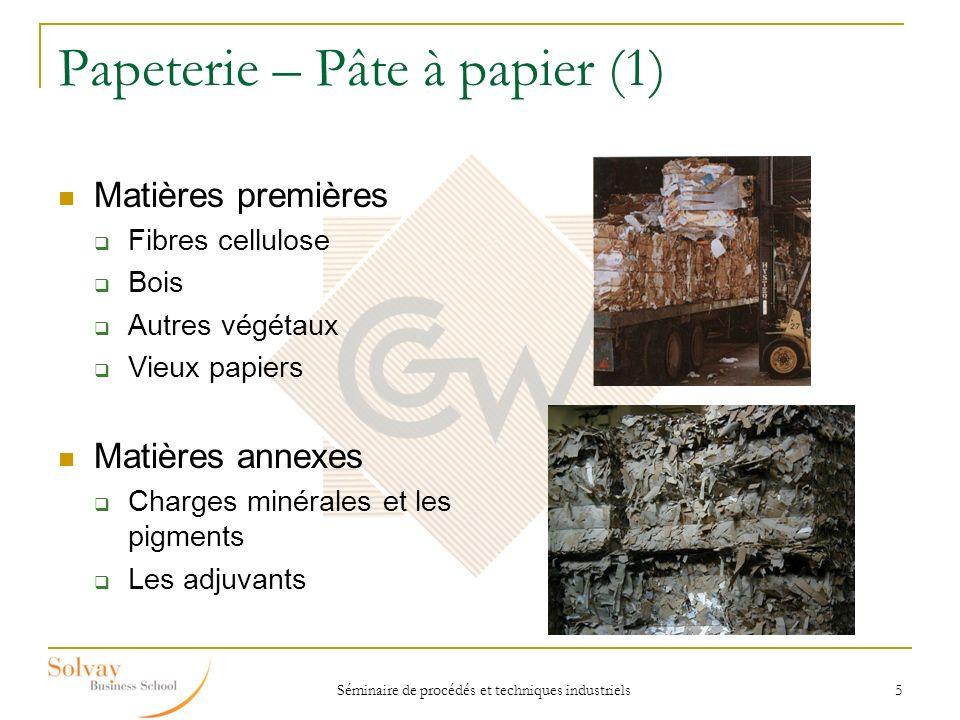 Papeterie – Pâte à papier (1)
