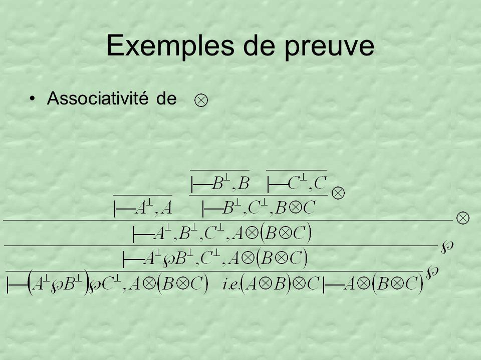 Exemples de preuve Associativité de
