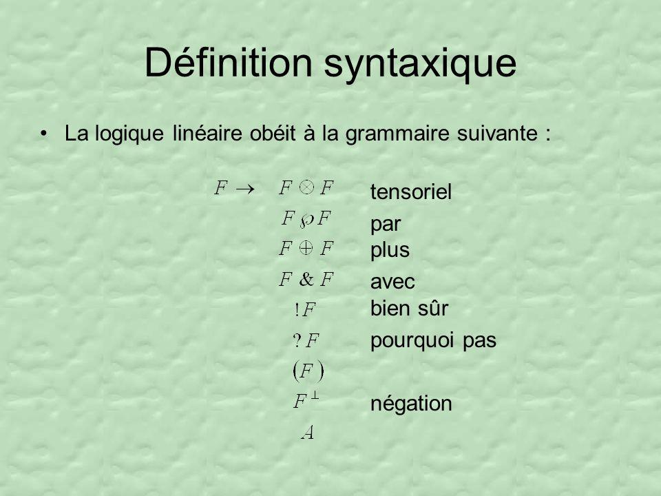Définition syntaxique