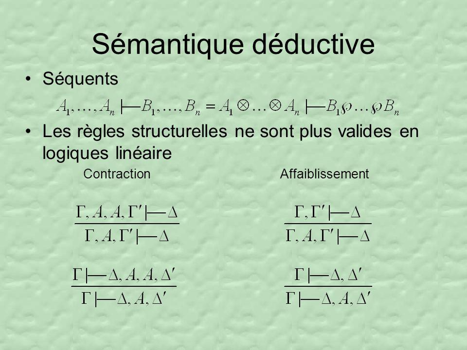 Sémantique déductive Séquents