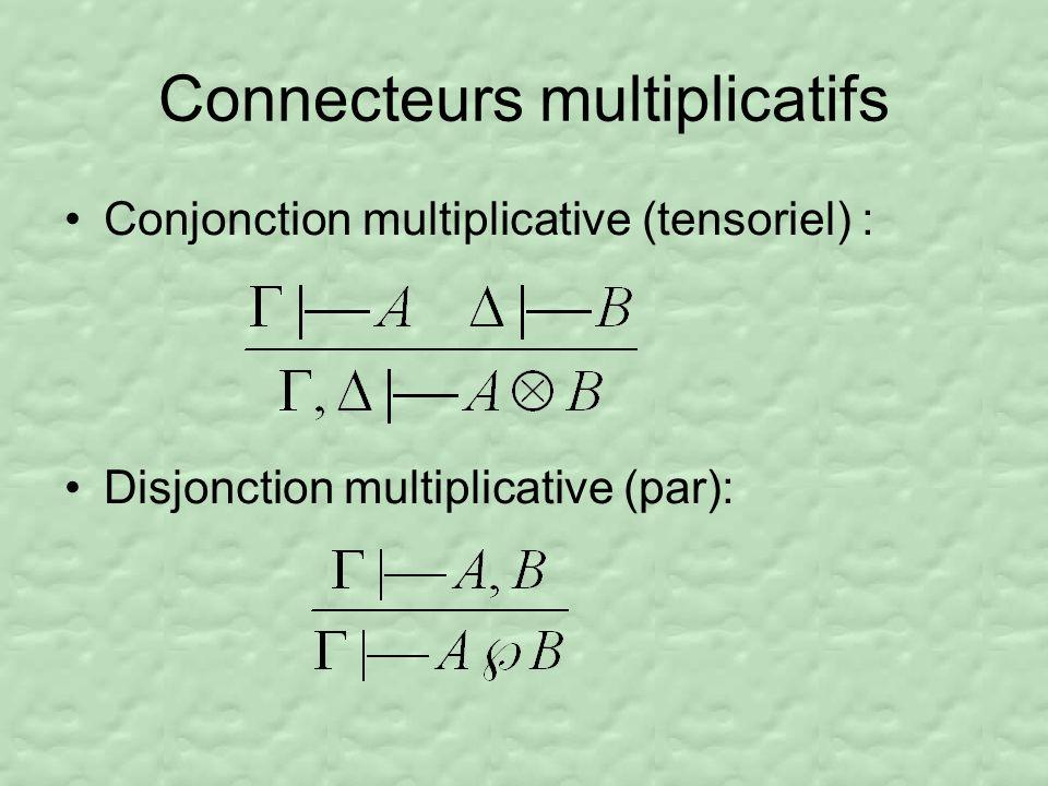 Connecteurs multiplicatifs