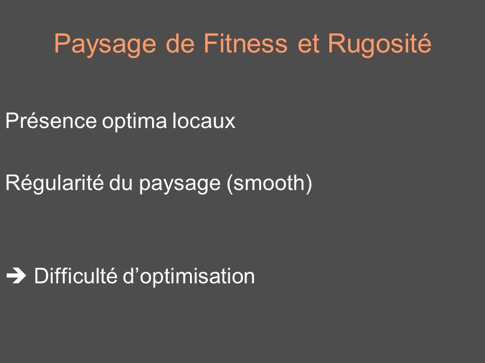 Paysage de Fitness et Rugosité