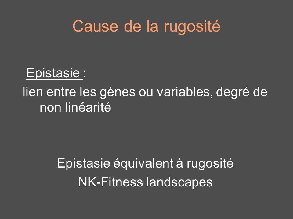Cause de la rugosité Epistasie :