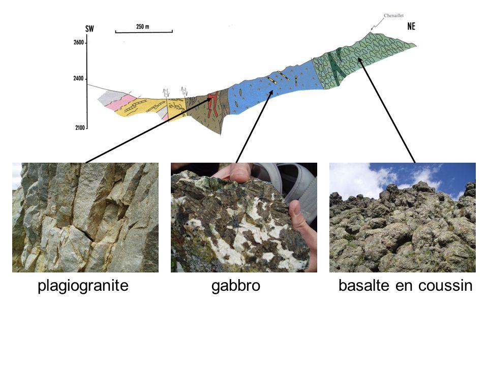 plagiogranite gabbro basalte en coussin