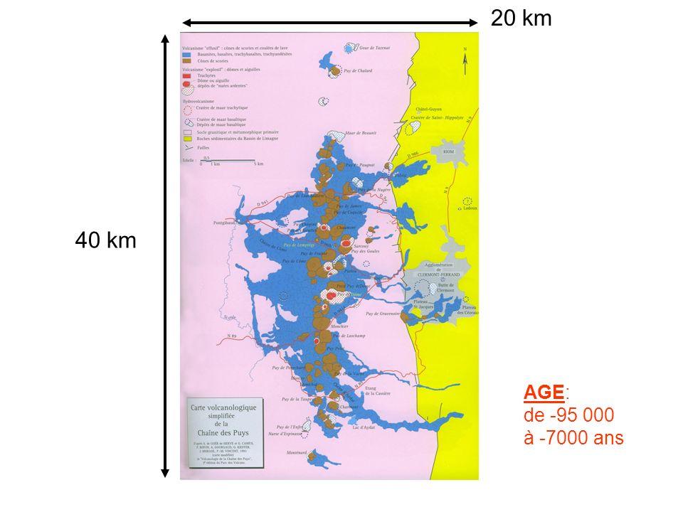 20 km 40 km AGE: de -95 000 à -7000 ans