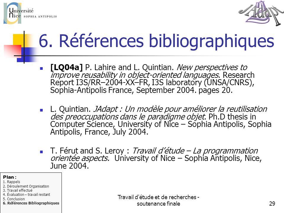 6. Références bibliographiques