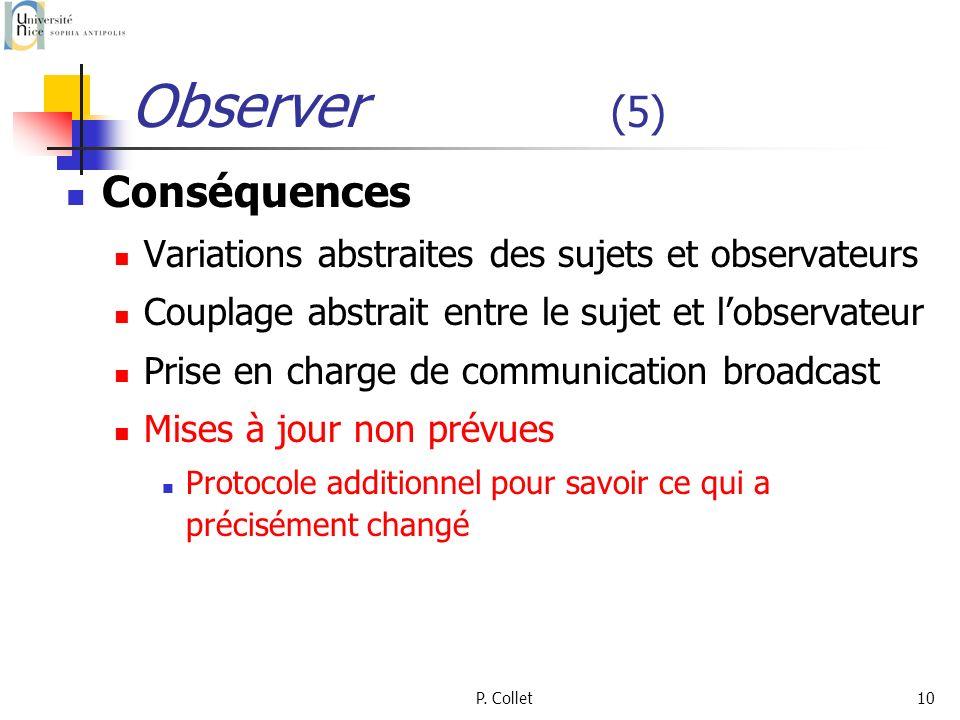 Observer (5) Conséquences