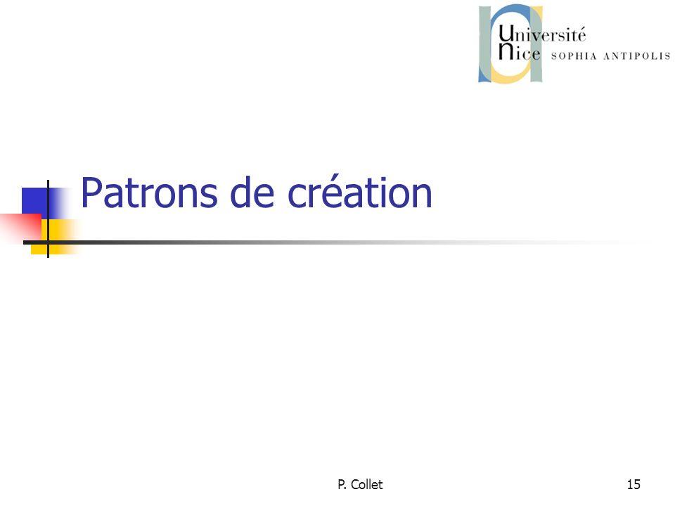 Patrons de création P. Collet