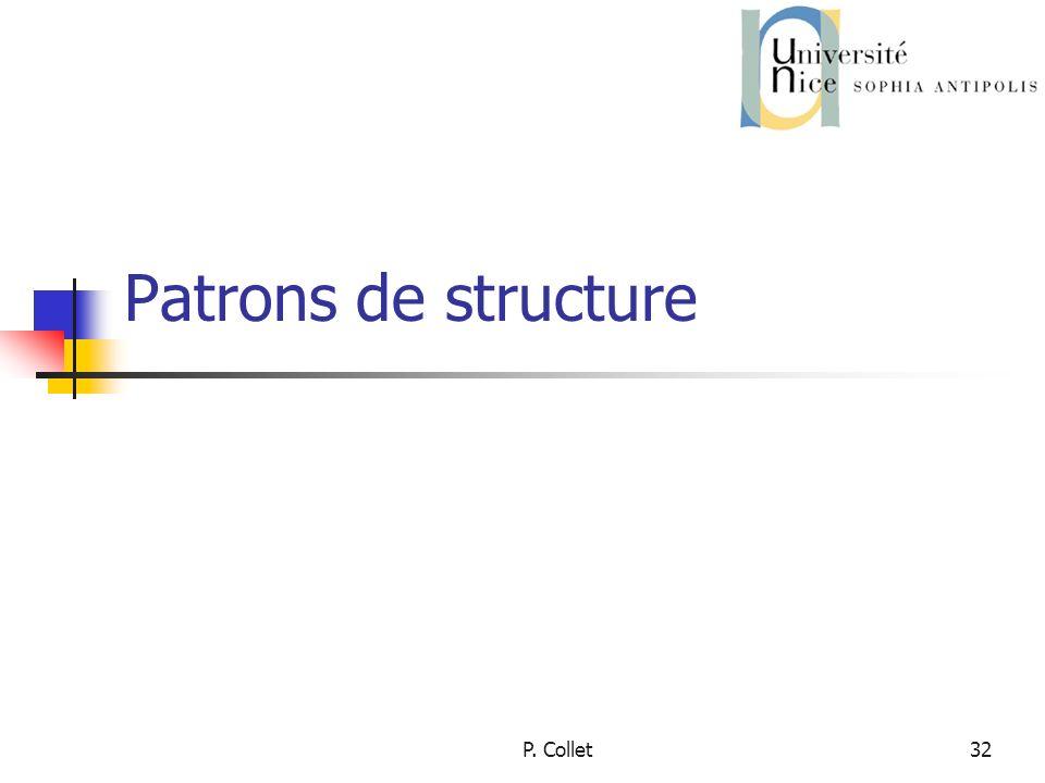 Patrons de structure P. Collet