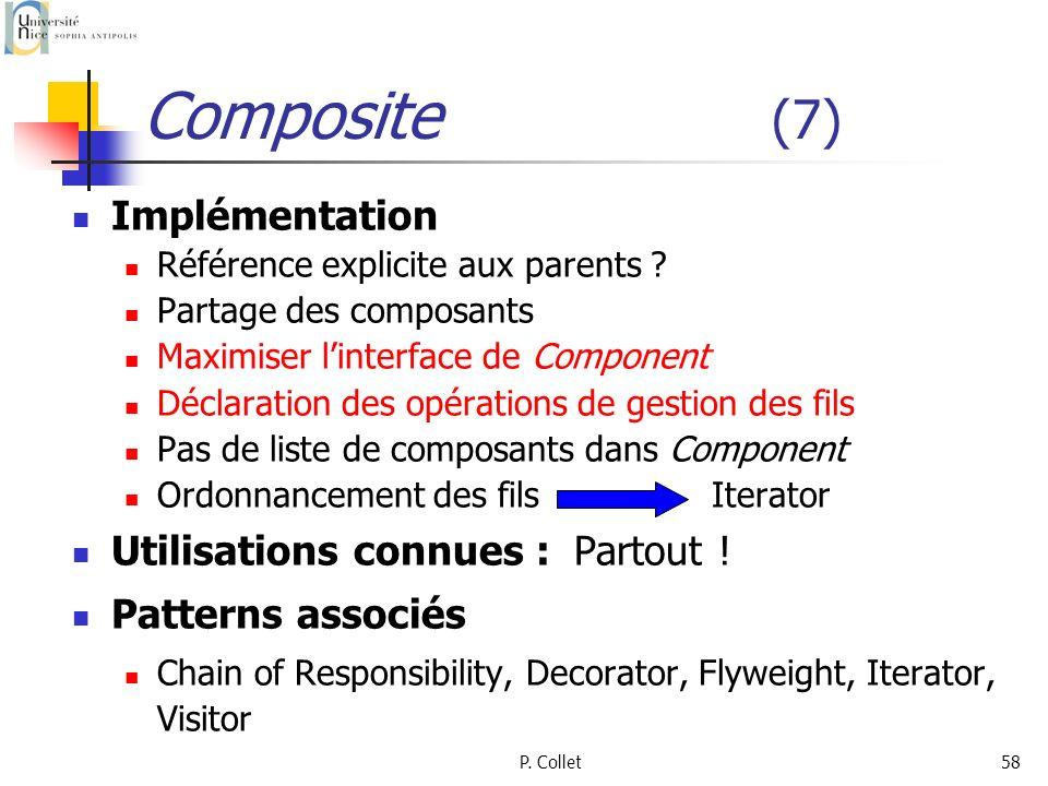 Composite (7) Implémentation Utilisations connues : Partout !