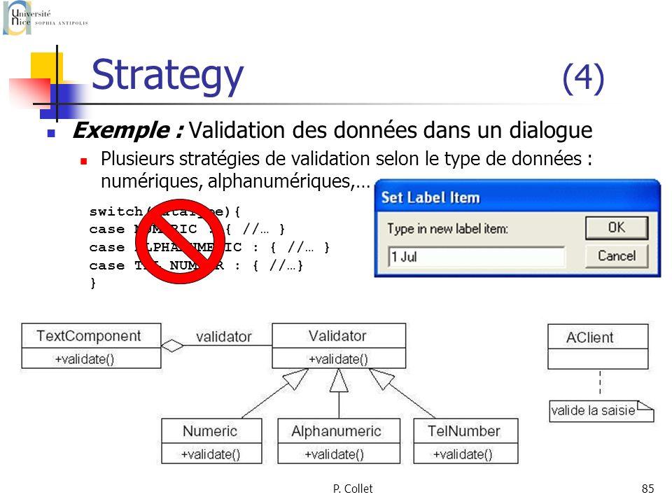 Strategy (4) Exemple : Validation des données dans un dialogue