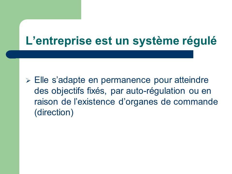L'entreprise est un système régulé