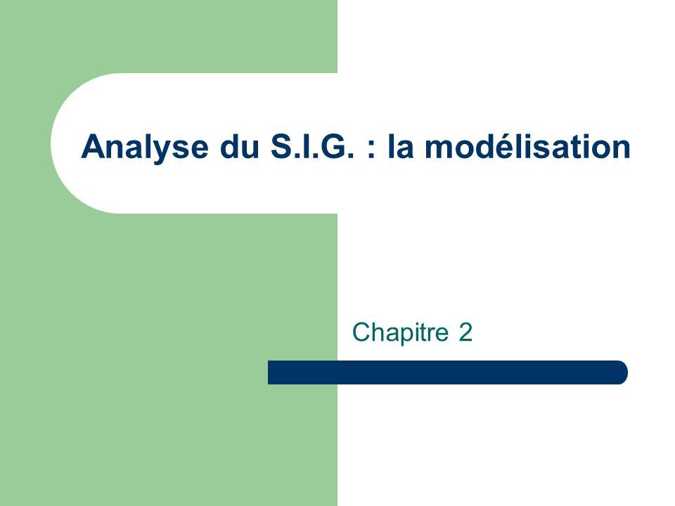 Analyse du S.I.G. : la modélisation
