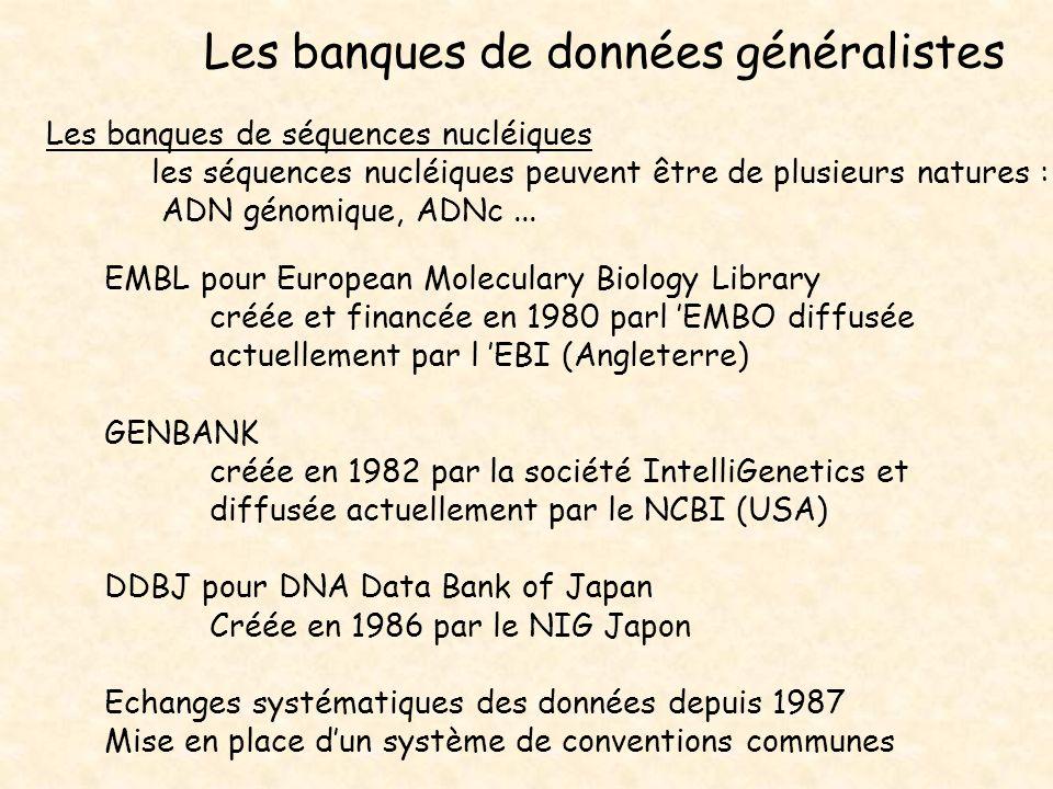 Les banques de données généralistes
