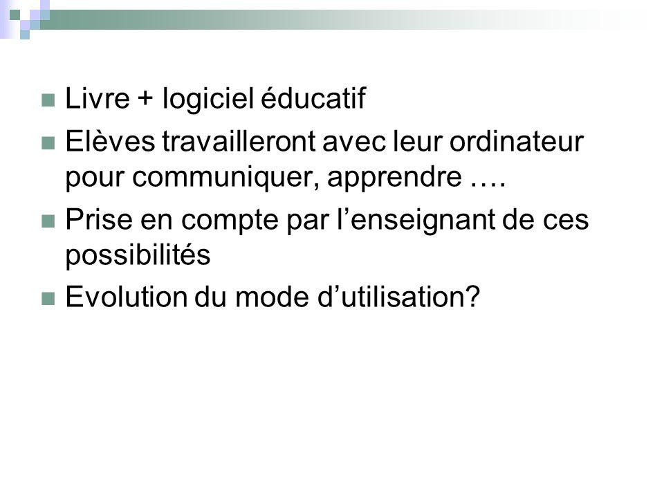 Livre + logiciel éducatif
