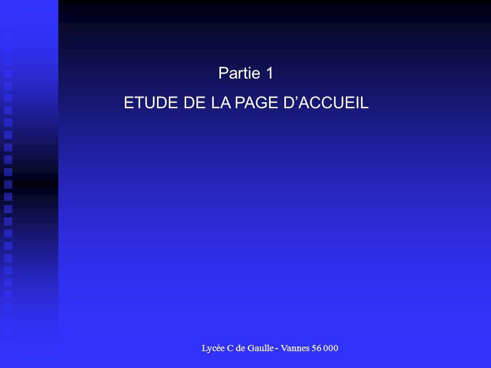 ETUDE DE LA PAGE D'ACCUEIL